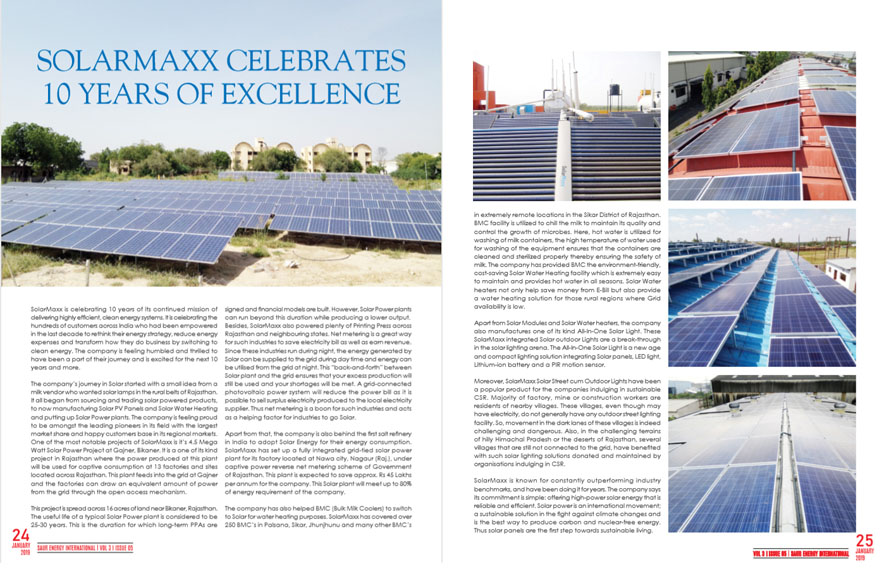 saur energy international 10 years of solarmaxx in india enterpreneurs