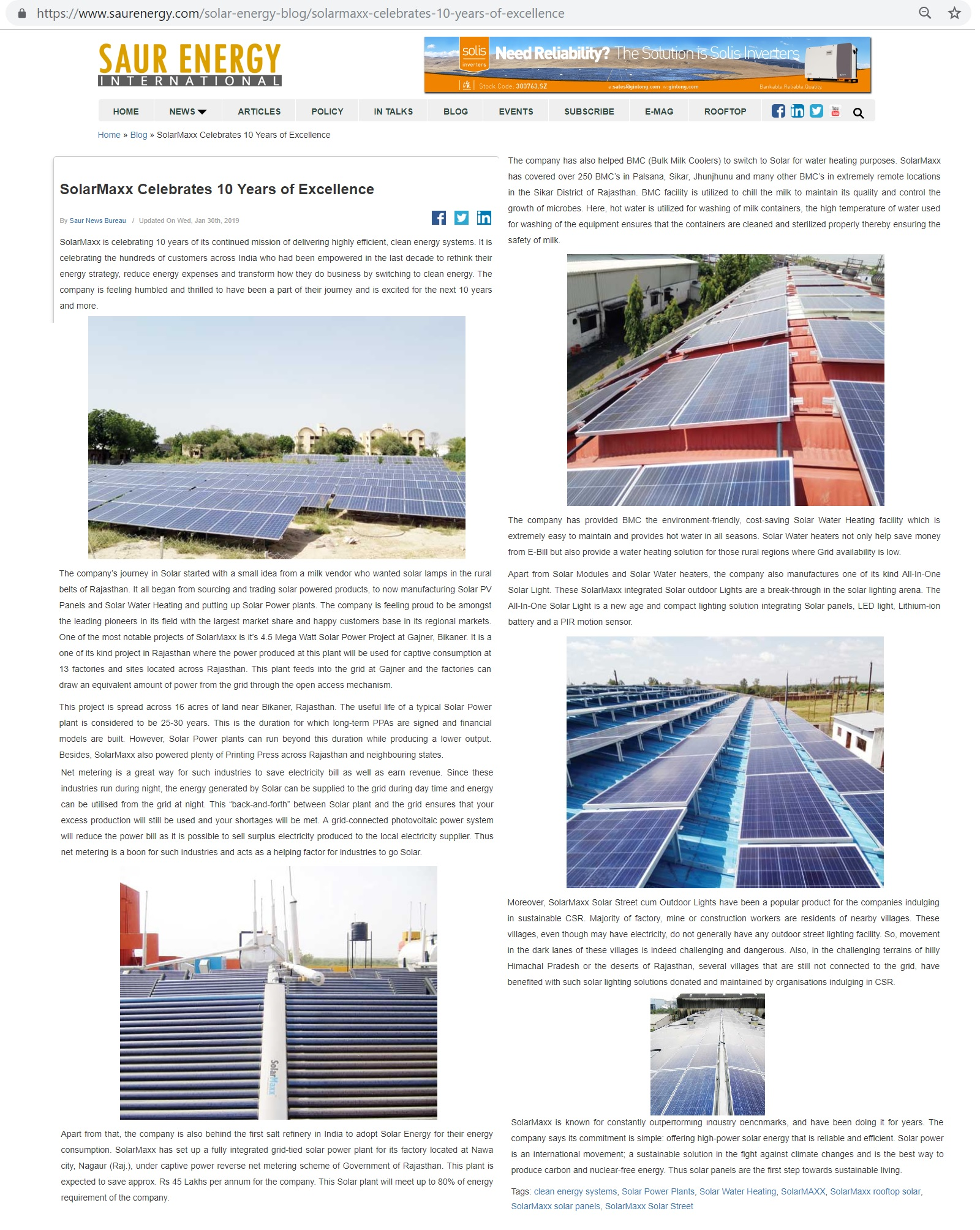 Saur Energy interviews SolarMaxx CEO for a decade in the Solar industry