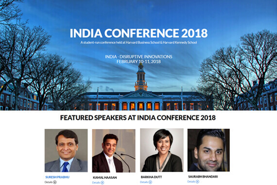 Saurabh Bhandari to speak at the India Conference, Harvard University, USA