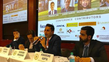 Saurabh Bhandari speaks at the India Conference at Harvard
