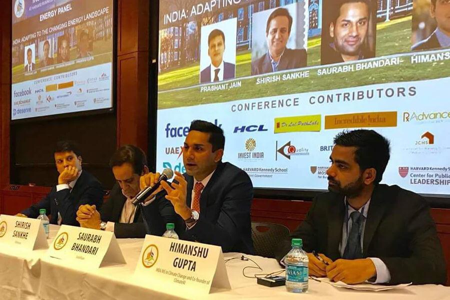 Saurabh Bhandari speaks at the India Conference at Harvard